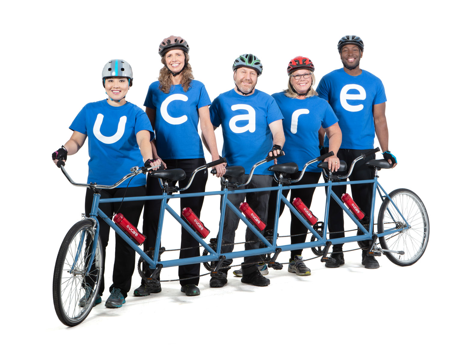 UCare employees with bike