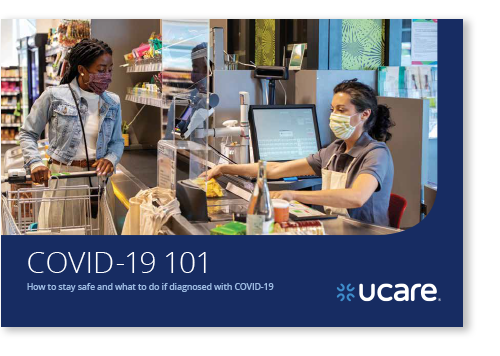 Image of the cover of the UCare COVID-19 booklet