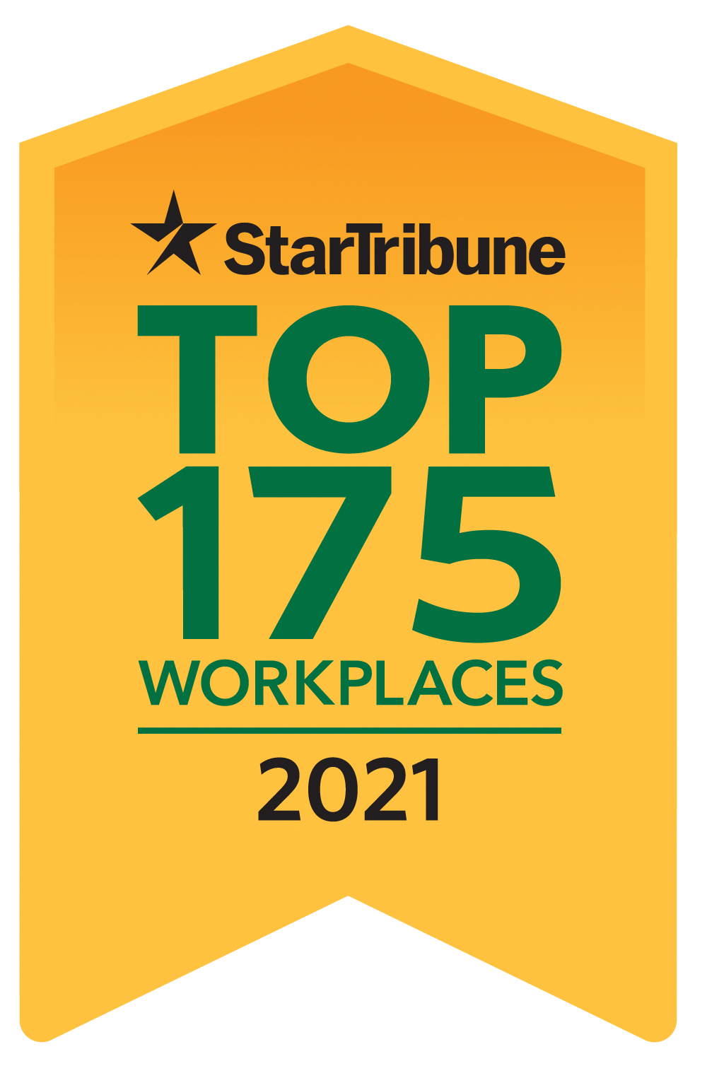 Proud to be a Star Tribune Top 175 Workplaces award winner