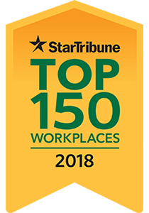 Proud to be a Star Tribune Top 150 Workplaces award winner
